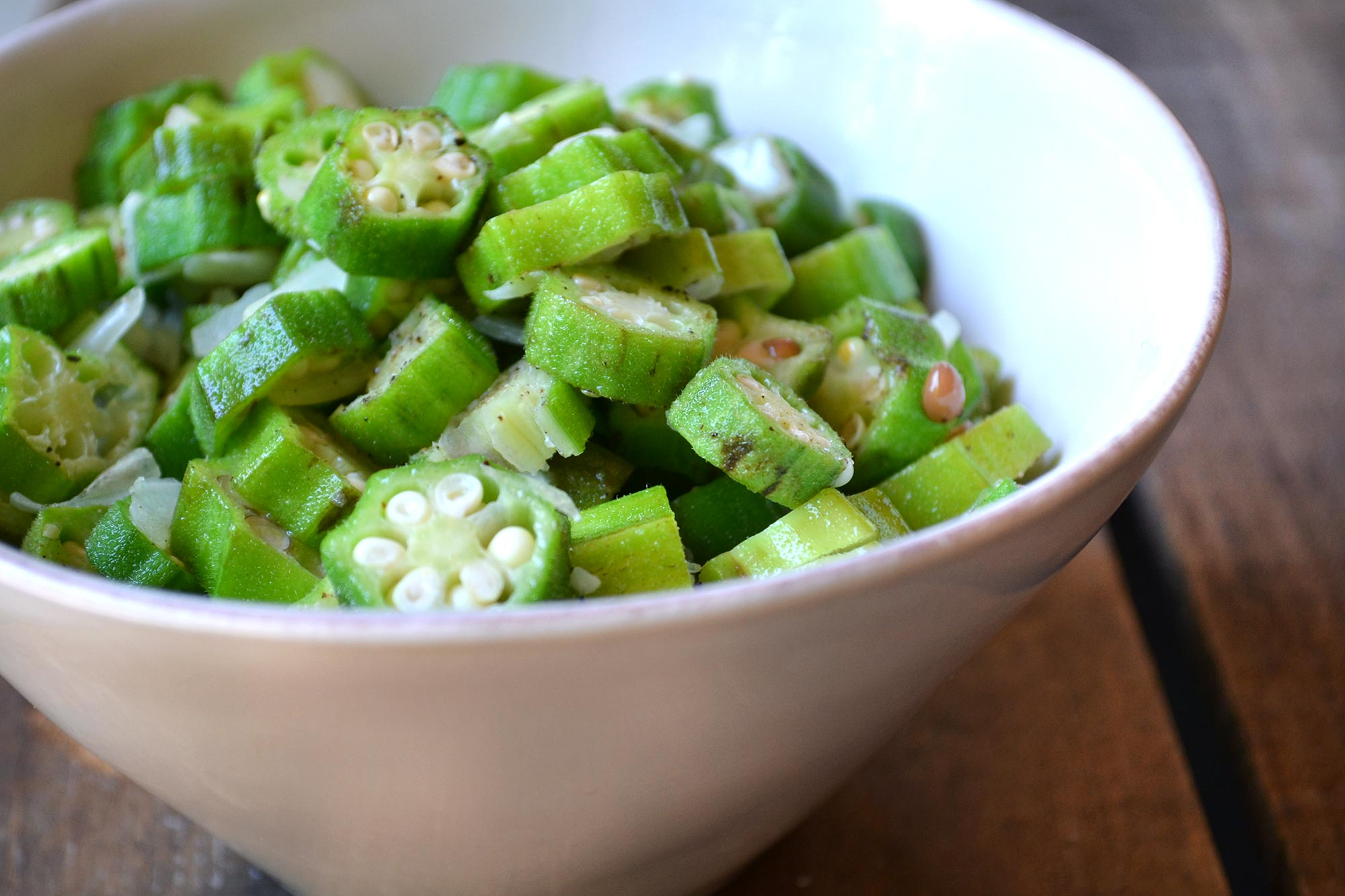 Farm Fresh To You Recipe Sauteed Okra With Onions And Garlic