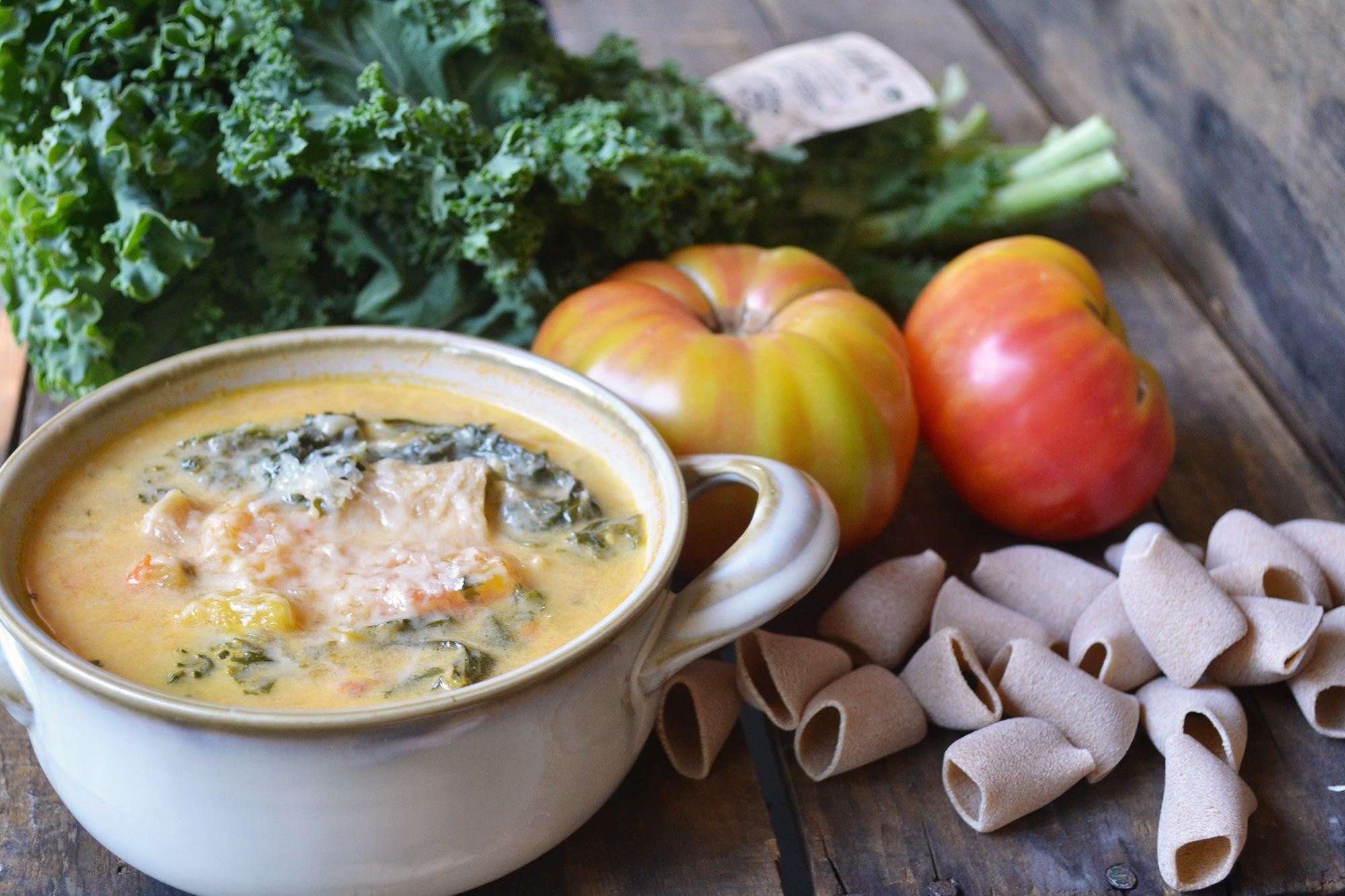 Rustic Kale and Tomato Soup