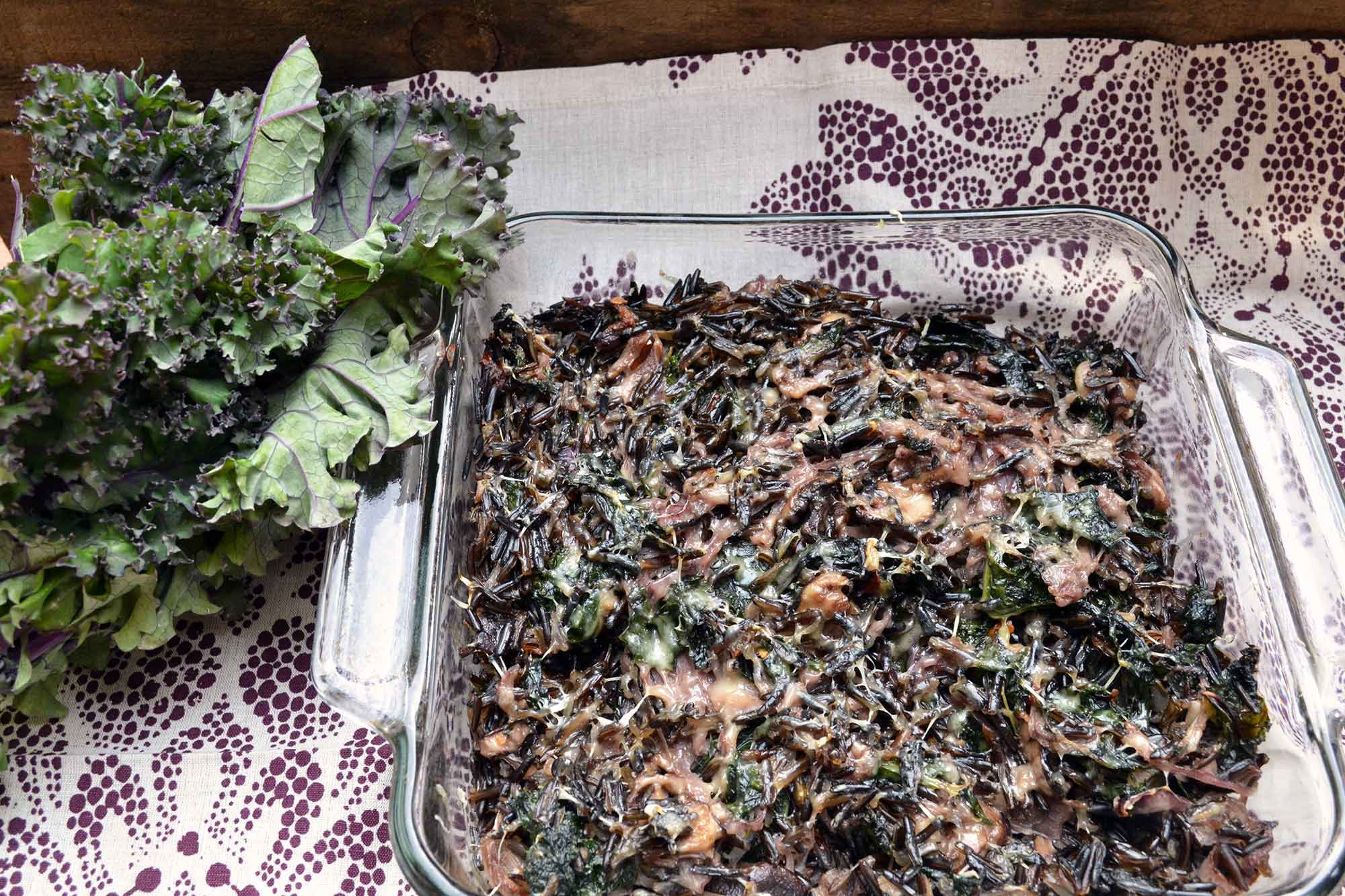 Wild Rice, Kale and Shiitake Casserole