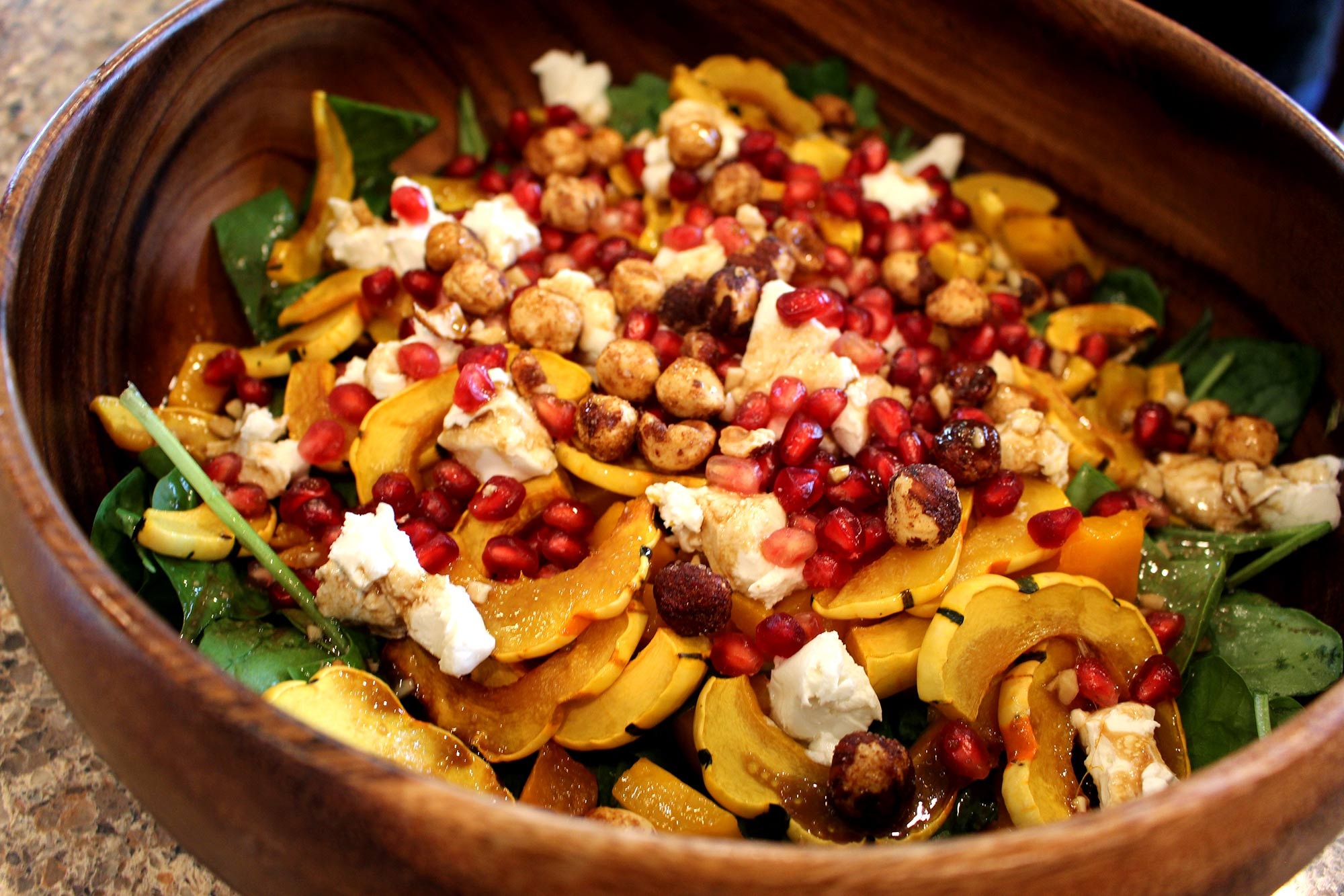 Roasted Squash Salad with Goat Cheese