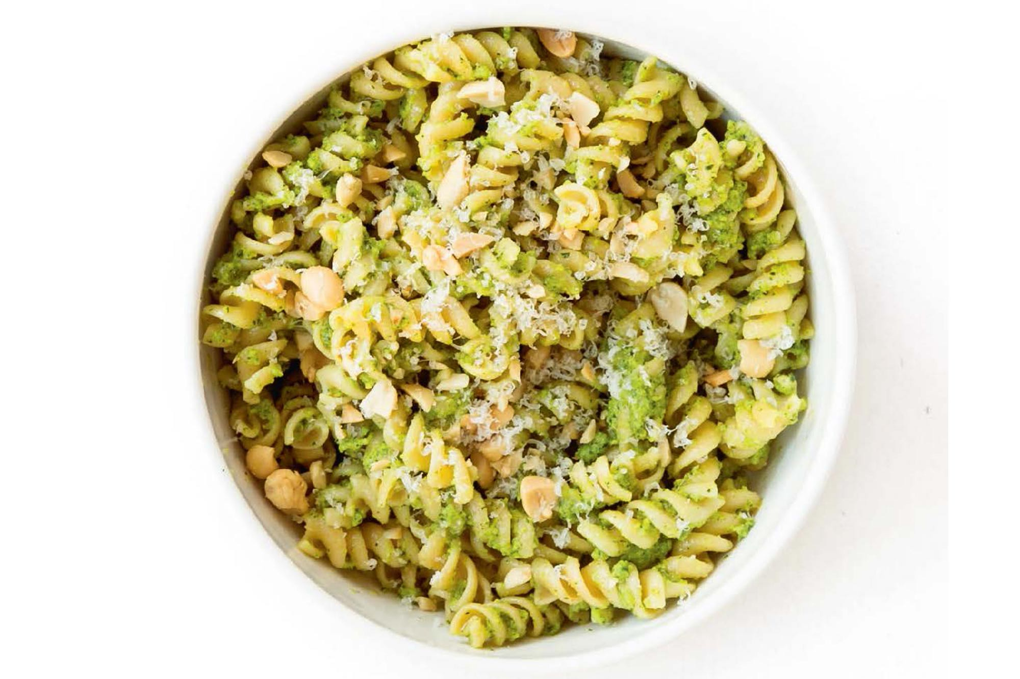 Glowing Green Pesto Pasta