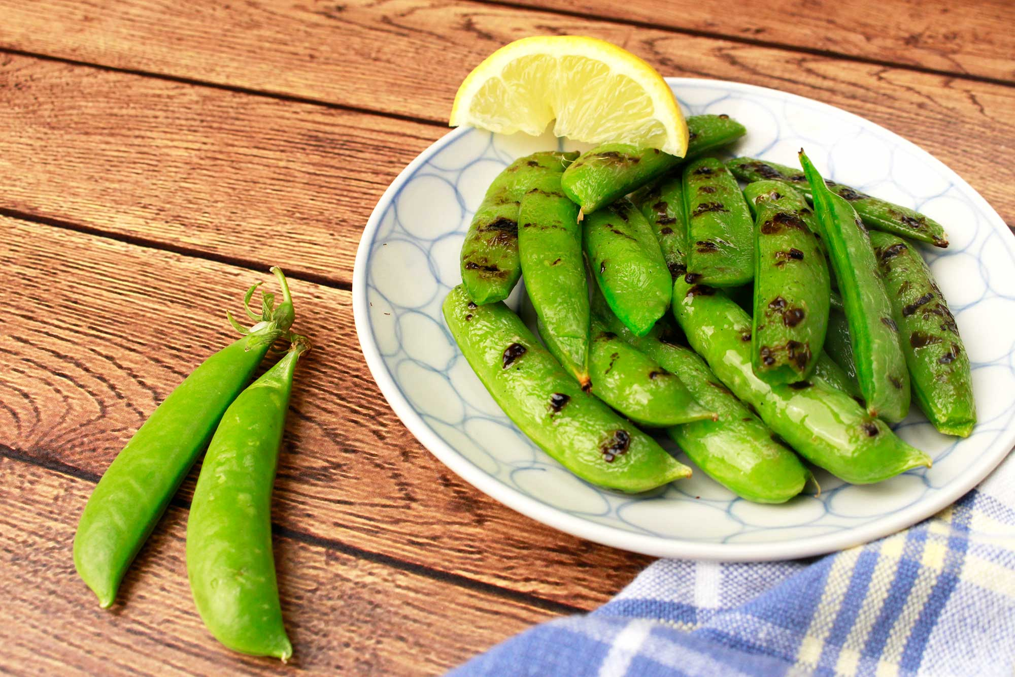 Grilled Snap Peas