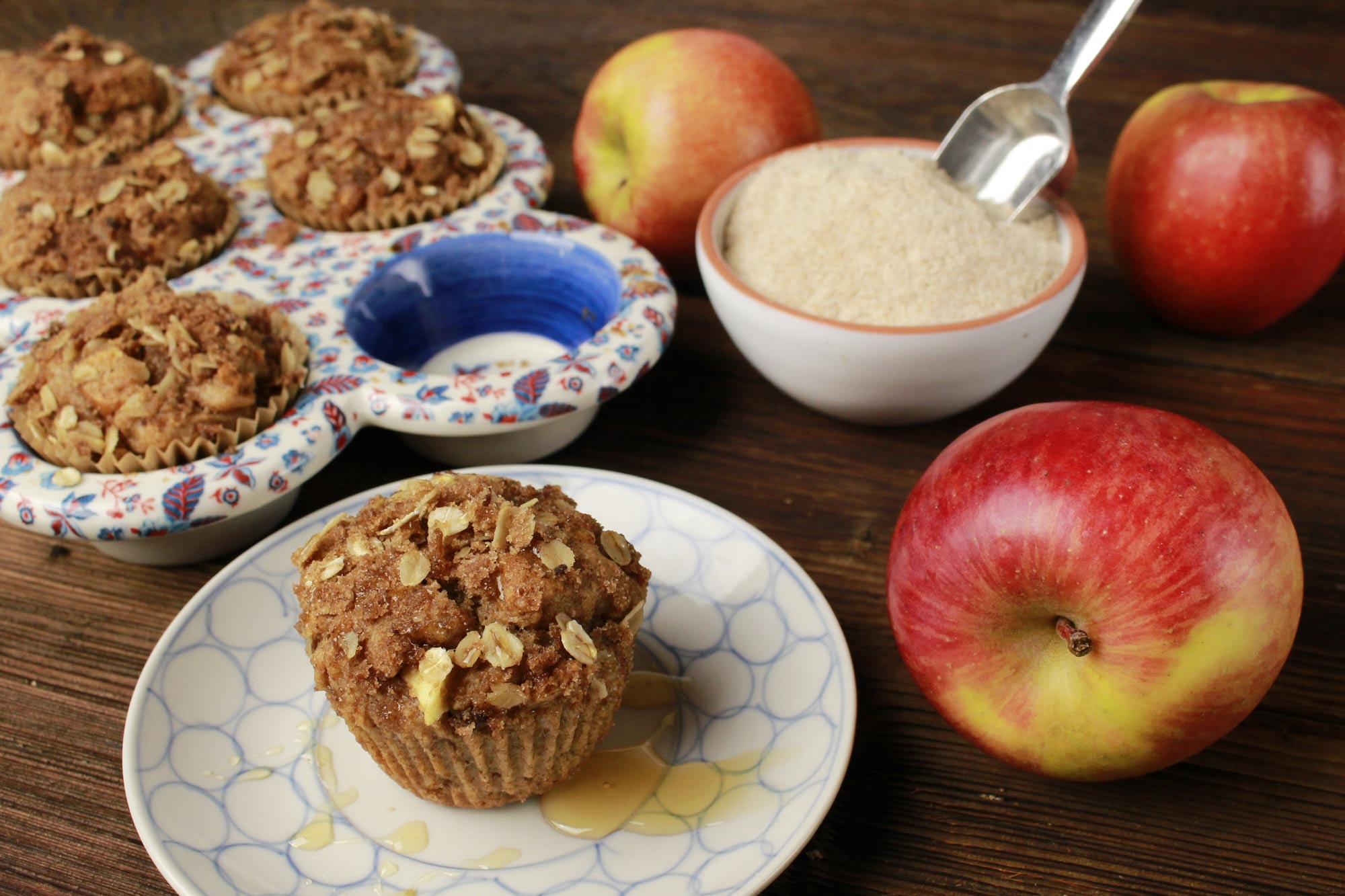 Apple Breakfast Muffins (made with emmer flour)