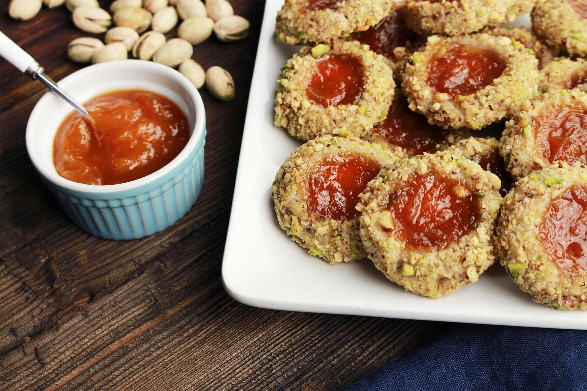Aprium Jam Thumbprint Cookies
