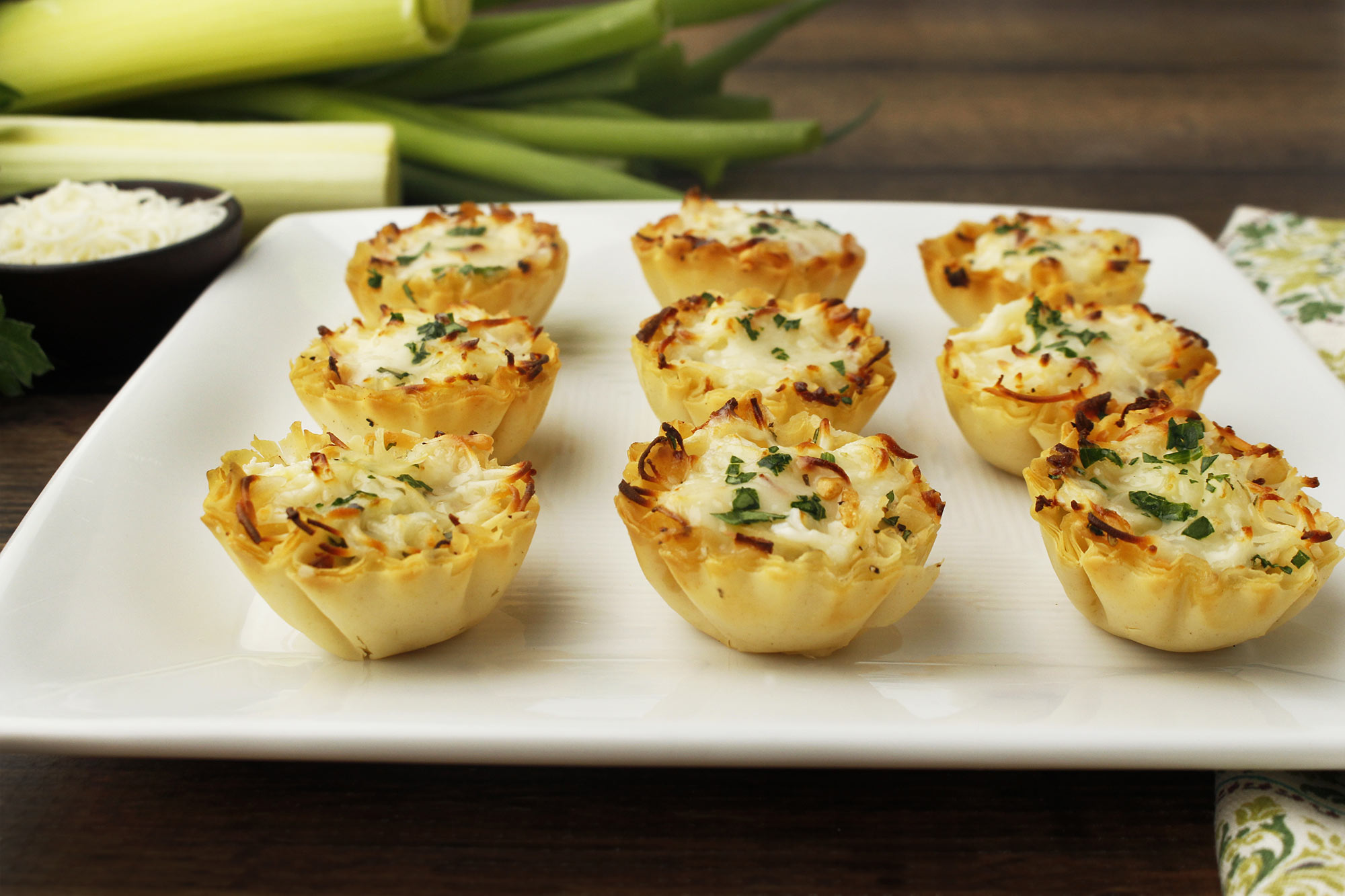 Caramelized Leek and Onion Tartlets