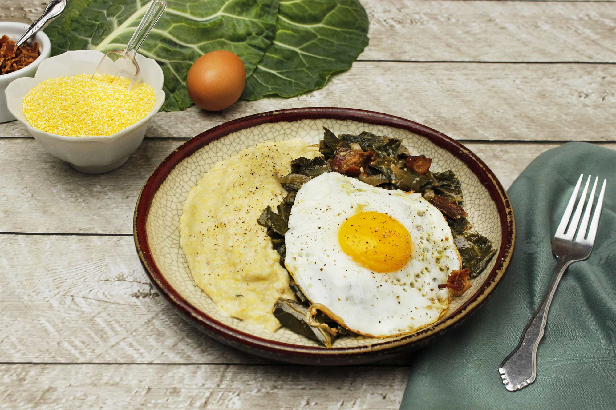 Farm fresh to you recipe collard greens with polenta for Creamy polenta with mushrooms and collards