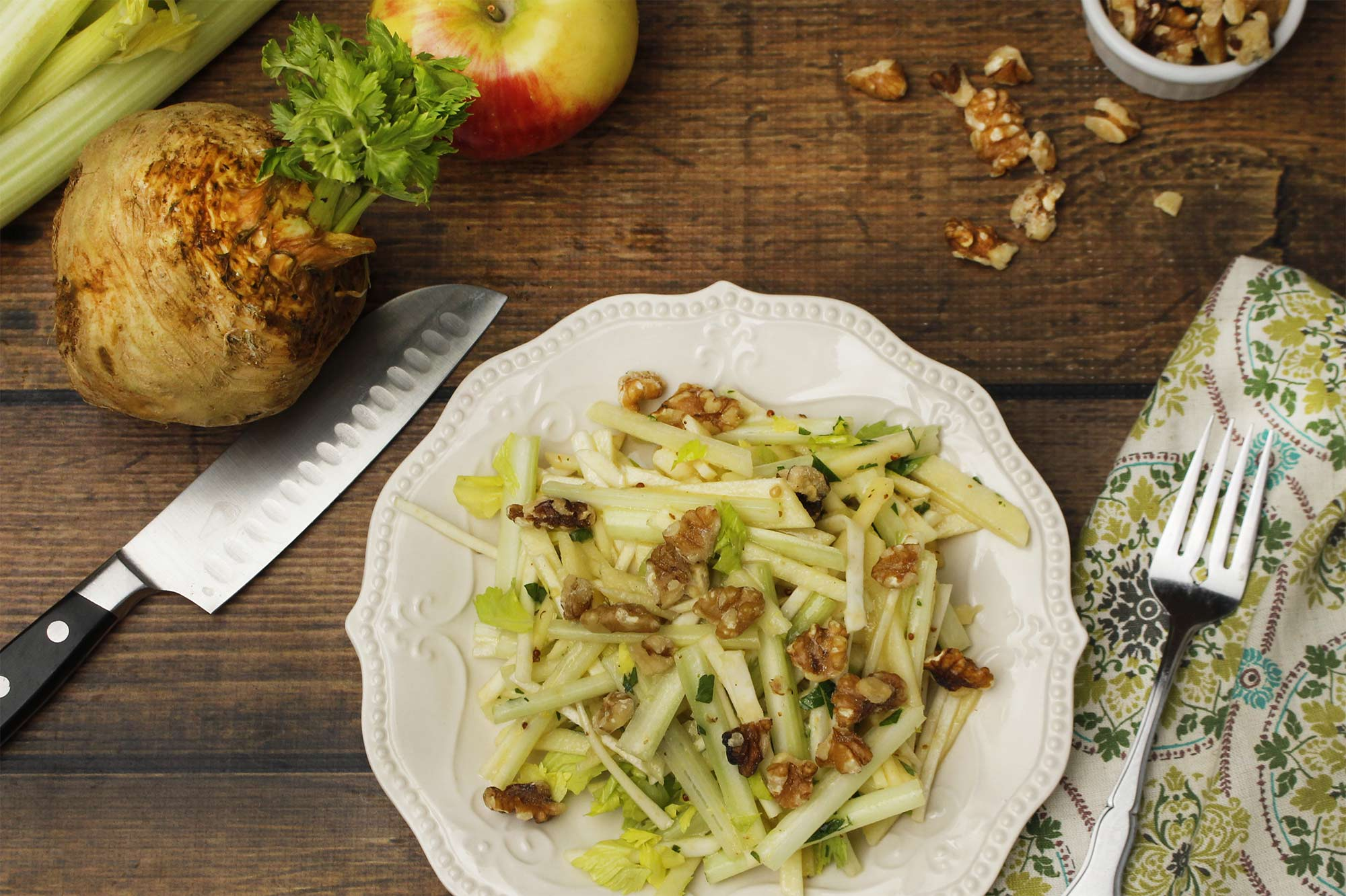 Julienned Celery Root and Apple Salad