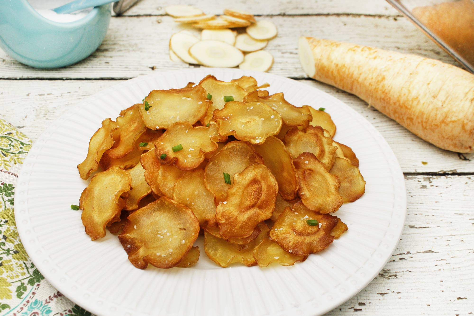 Salt and Vinegar Parsnip Chips