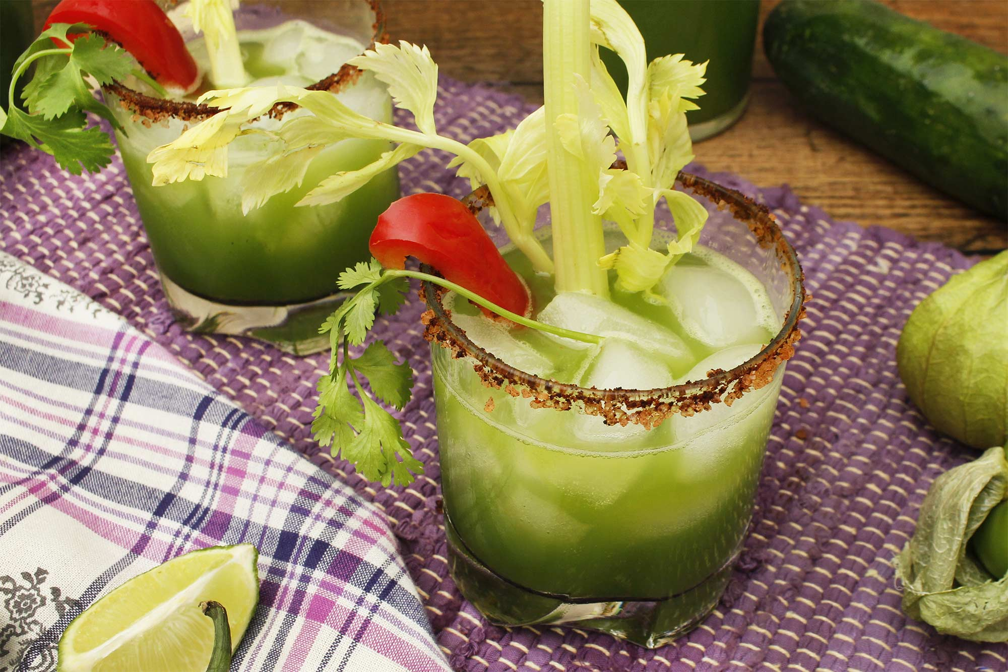 Spicy Tomatillo Bloody Mary