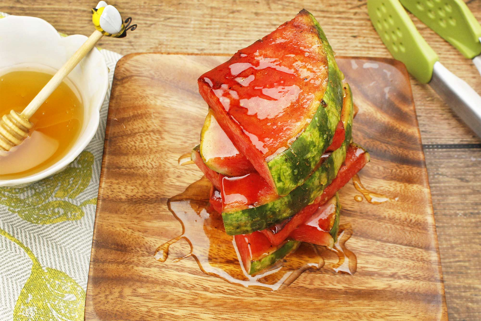Honey-Glazed Grilled Watermelon