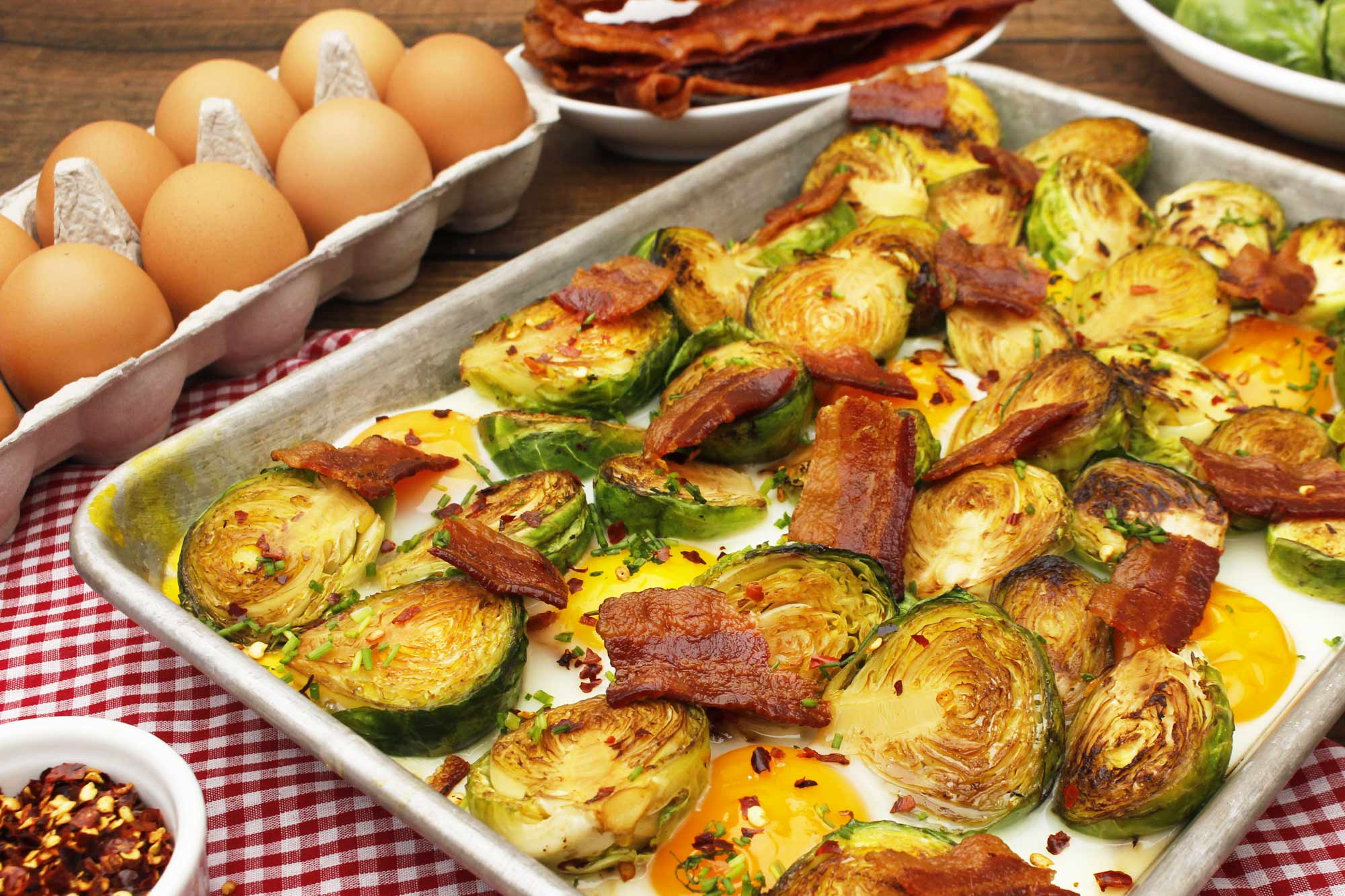 Brussels Sprouts, Eggs & Bacon