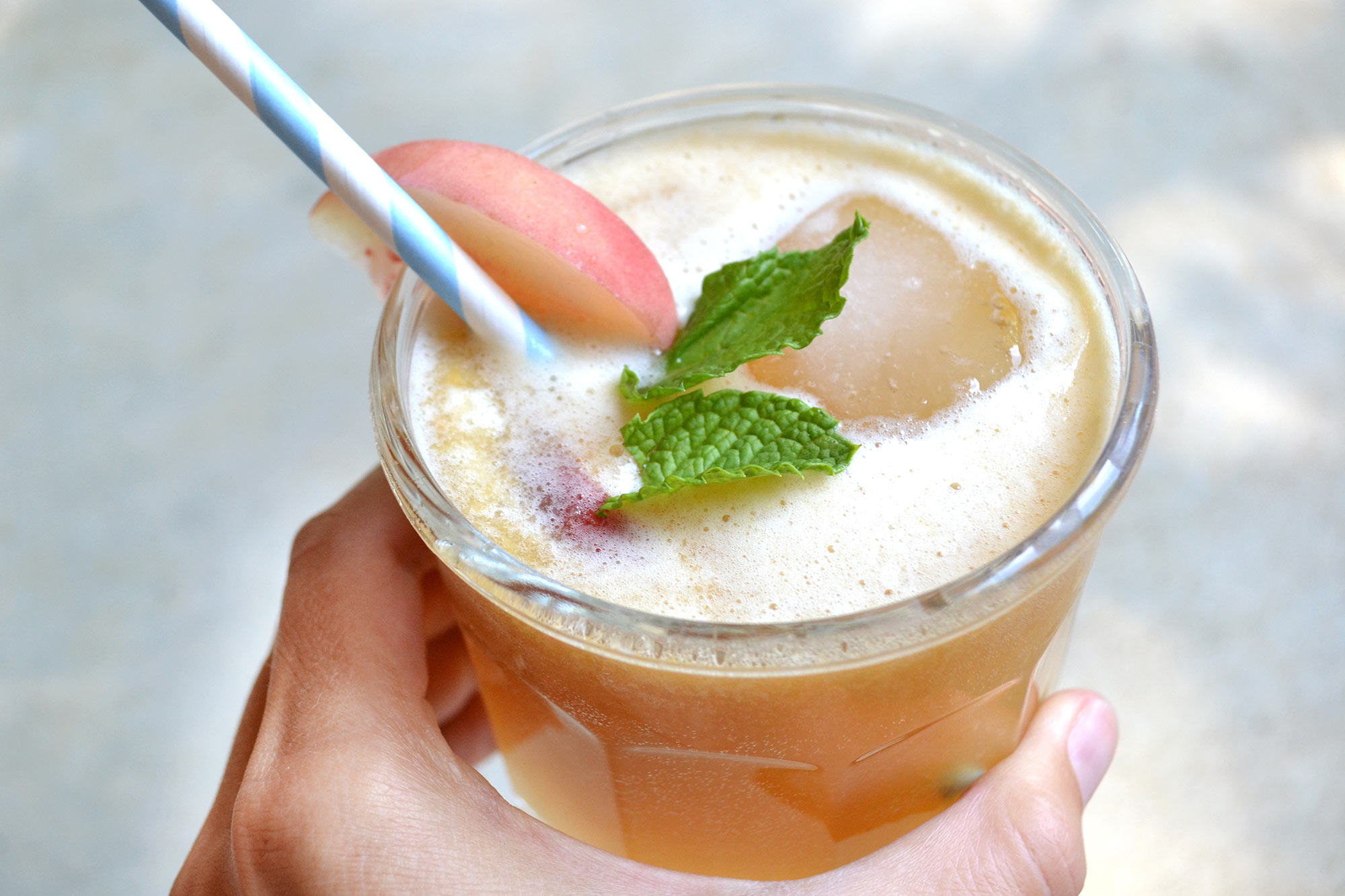 Peppermint Peach Punch