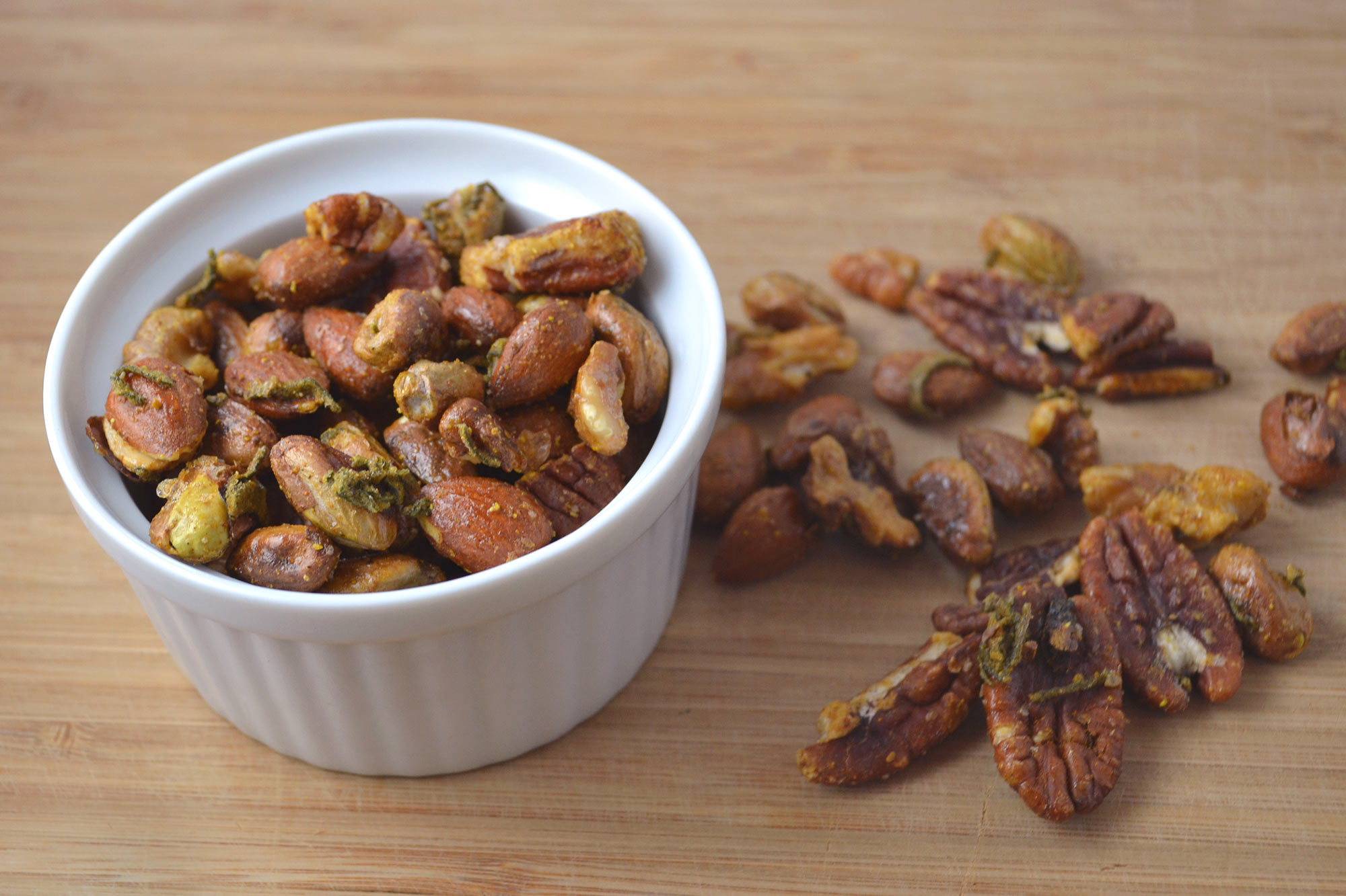 Spiced Nuts with Sage