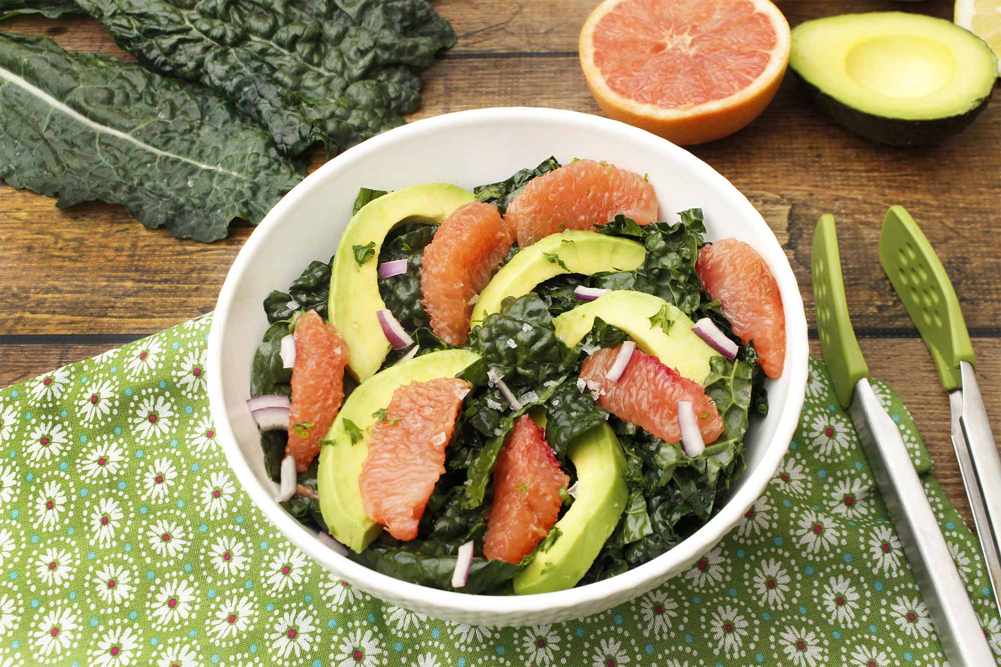 Kale and Grapefruit Salad